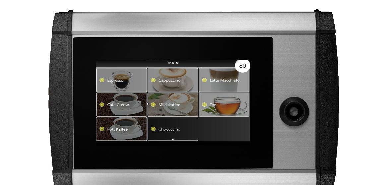 elektronische Kontrolle von Kaffeemaschinen